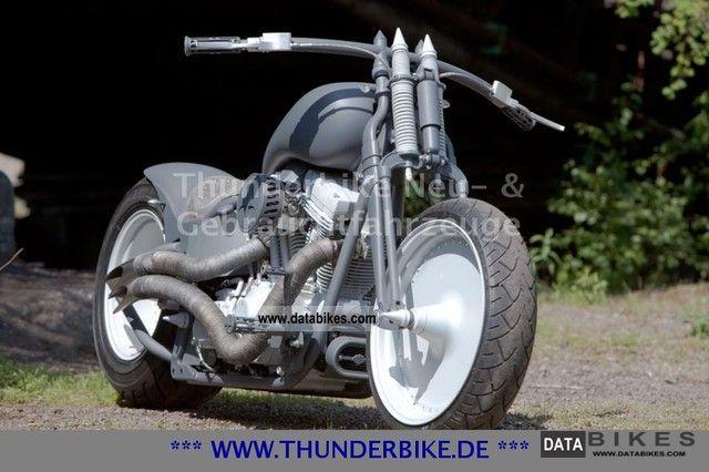 2010 Harley Davidson  FLSTSB crossbones design Thunderbike Earl Grey Motorcycle Chopper/Cruiser photo