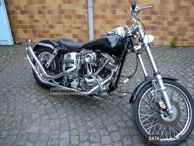 Harley Davidson  Shovelhead 1958 Vintage, Classic and Old Bikes photo
