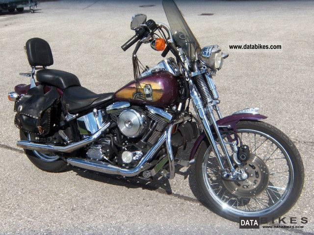 1996 Harley Davidson  FXST Softail Springer Motorcycle Chopper/Cruiser photo