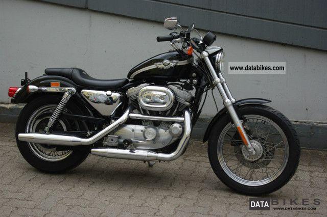 2003 Harley Davidson  Sportster 100 model year as new black Motorcycle Chopper/Cruiser photo