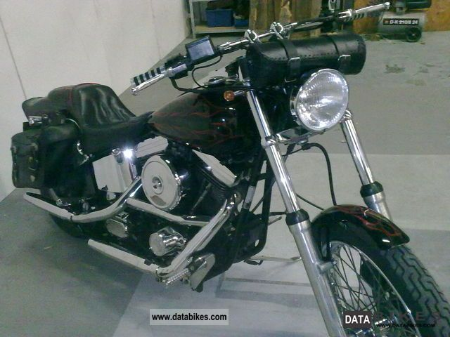 1993 Harley Davidson  FXST Motorcycle Chopper/Cruiser photo