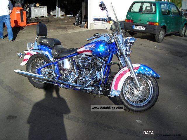 1998 Harley Davidson  Heritage Softail FXST \ Motorcycle Chopper/Cruiser photo