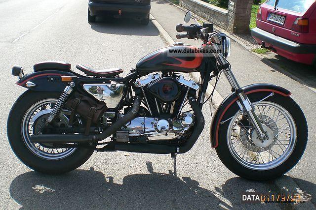 1991 Harley Davidson  Sportster 1000cc Motorcycle Chopper/Cruiser photo