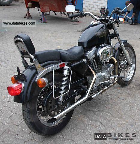 1991 Harley Davidson XLH Sportster 883 Standard Motorcycle Chopper Cruiser Photo