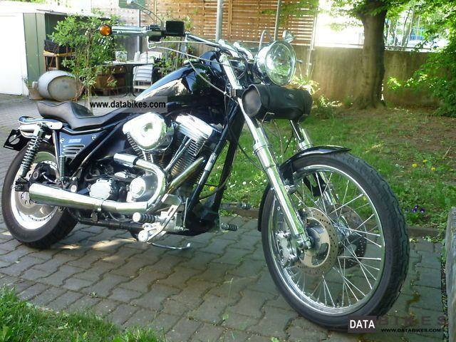 1990 Harley Davidson  FXR Costum 1.Hand Motorcycle Chopper/Cruiser photo