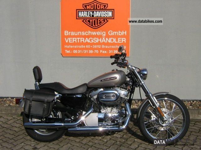 2008 Harley Davidson  Sportster 2009 Custom XL883C Motorcycle Chopper/Cruiser photo