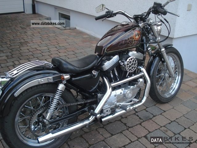 1990 Harley Davidson Sportster XL 2 XLH 883 Motorcycle Chopper Cruiser Photo