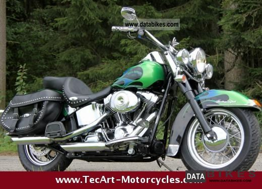 2006 Harley Davidson  Thru 2006 Heritage Softail Ltd.. CUSTOM PAINT Flames Motorcycle Chopper/Cruiser photo