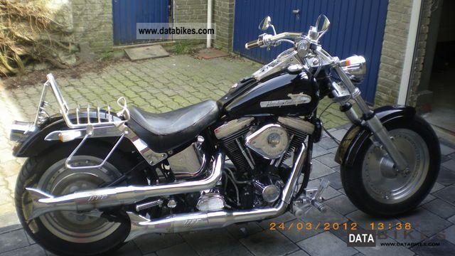 1992 Harley Davidson  FXST Top Model Motorcycle Chopper/Cruiser photo