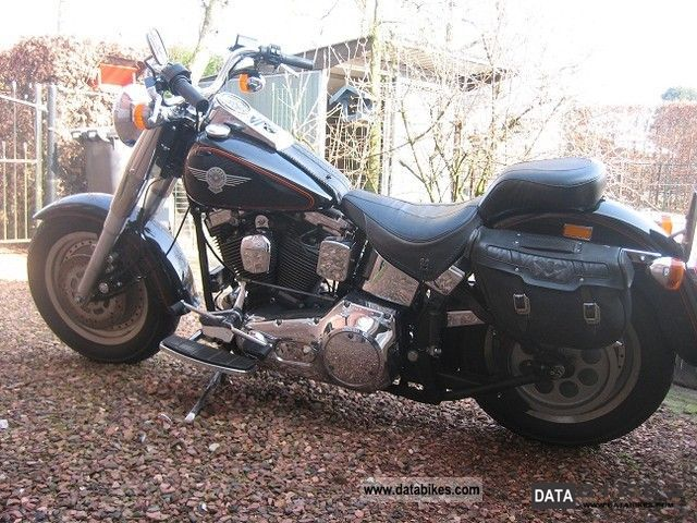 1992 Harley Davidson  Fatboy FLSTF Motorcycle Chopper/Cruiser photo