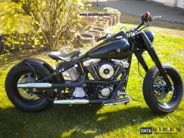 1997 Harley Davidson Fat Boy Bobber Motorcycle Chopper Cruiser Photo 4