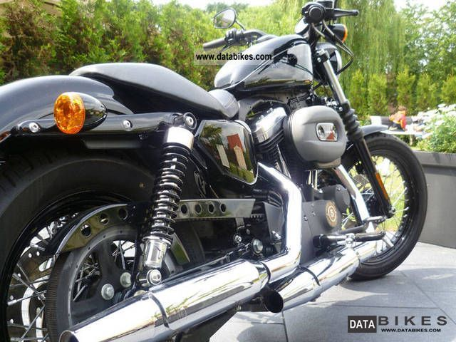 2010 Harley Davidson  1200 Nightster Vivid Black Motorcycle Chopper/Cruiser photo