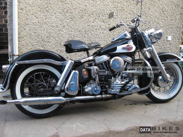 1959 Harley Davidson  PANHEAD DUO-GLIDE collectible Motorcycle Tourer photo