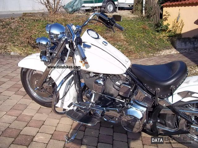 1991 Harley Davidson  1340 FLSTF EVO Motorcycle Chopper/Cruiser photo