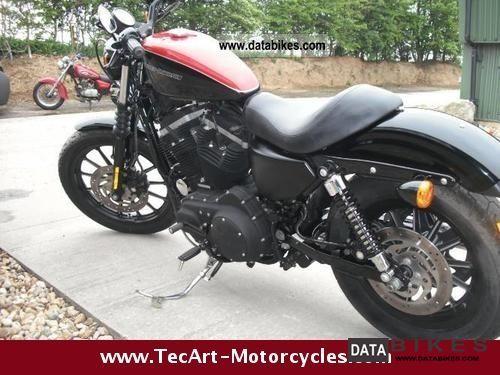 2009 Harley Davidson  2009er 883N Sportster Iron-black-red Motorcycle Chopper/Cruiser photo