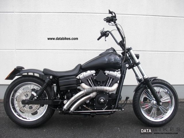 2007 Harley Davidson  * Skull * Bob FXDB Street Bob Custom Motorcycle Chopper/Cruiser photo
