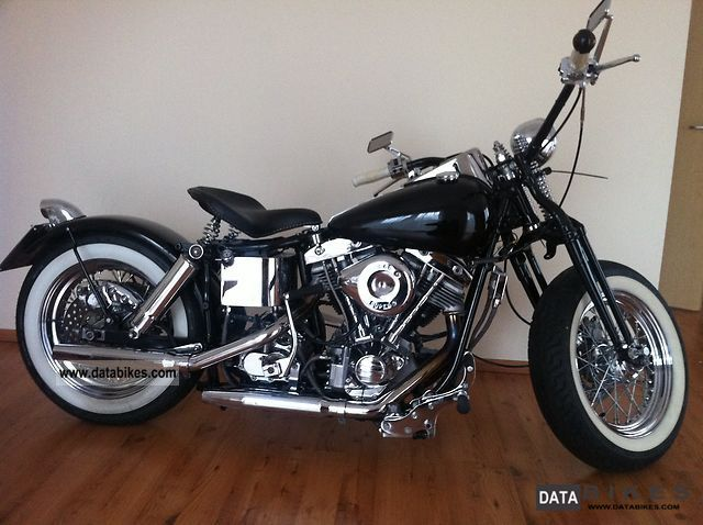 1975 Harley Davidson  shovelhead shovel Motorcycle Chopper/Cruiser photo