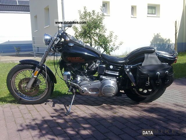 1977 Harley Davidson  Shovelhead FXWG Motorcycle Chopper/Cruiser photo