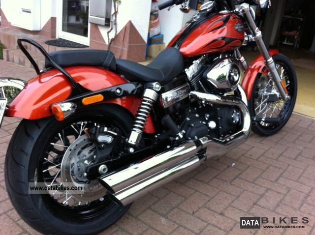 2011 Harley Davidson  FXDWG Dyna Wide Glide, Flames, copper, immediately Motorcycle Chopper/Cruiser photo
