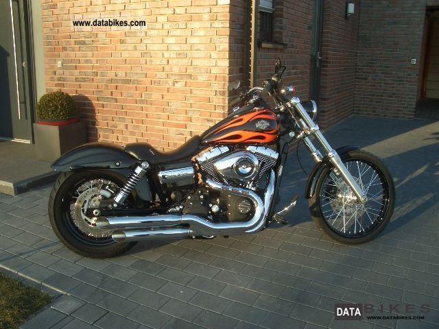 2010 Harley Davidson  FXDWG Dyna Wide Glide Flames - Custom Motorcycle Chopper/Cruiser photo