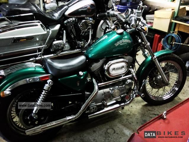 1992 Harley Davidson Sportster 1200 XL 2 Motorcycle Chopper Cruiser Photo
