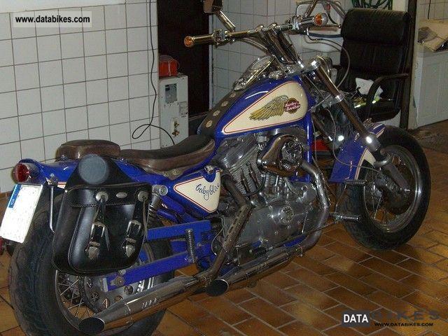 Harley Davidson  Sportster single piece Baby Blue 1986 Chopper/Cruiser photo