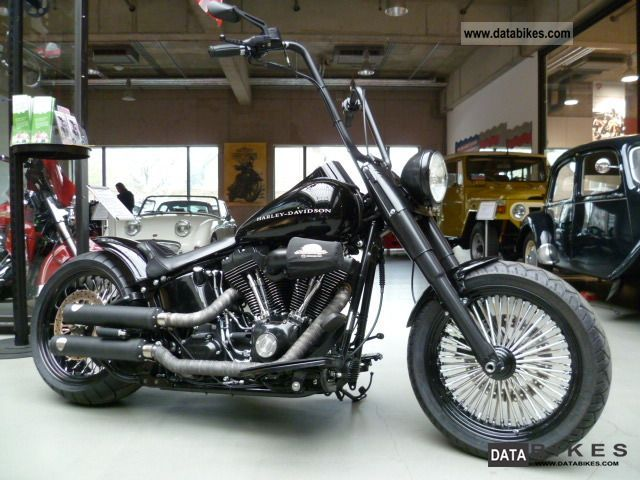 2008 Harley Davidson  Softail Bobber 260 he Bigspoke conversion Motorcycle Chopper/Cruiser photo