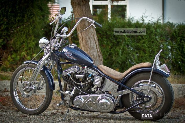 Harley Davidson  Oldschool choppers rigid frame Panhead FL 1950 Vintage, Classic and Old Bikes photo