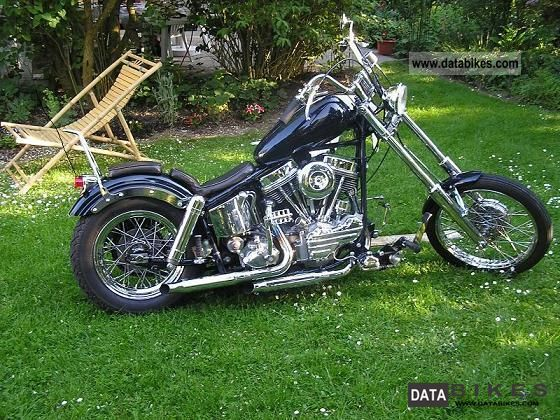 1958 Harley Davidson  Panhead Motorcycle Chopper/Cruiser photo