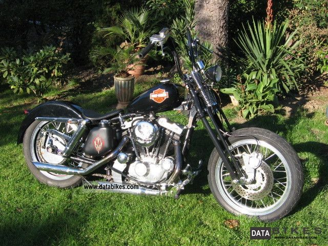 Harley Davidson  XL 1000 Ironhead - old school conversion - look 1977 Vintage, Classic and Old Bikes photo