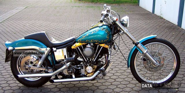 1984 Harley Davidson  FXWG Wide Glide Motorcycle Chopper/Cruiser photo
