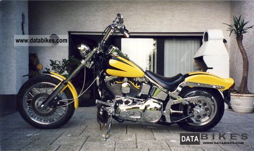 1991 Harley Davidson  FXST Softail Custom Motorcycle Chopper/Cruiser photo