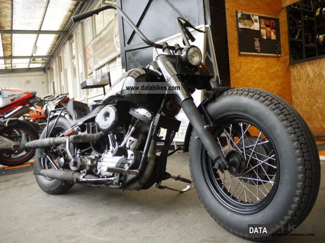 Harley Davidson  Bj.1954 panhead rigid frame 1954 Vintage, Classic and Old Bikes photo