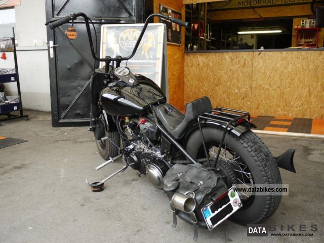 1954 harley davidson bj1954 panhead rigid frame motorcycle choppercruiser photo