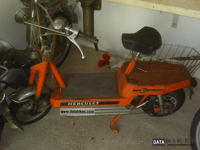 Hercules  E1 battery electric bike moped 1974 Vintage, Classic and Old Bikes photo