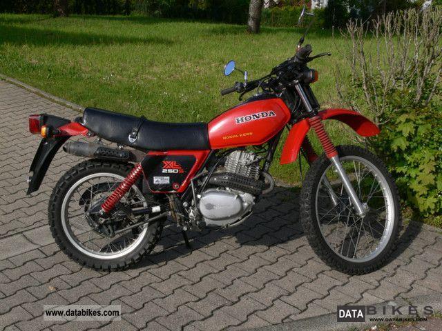 1981 Honda  XL250S Motorcycle Enduro/Touring Enduro photo