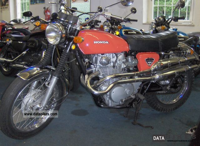Honda  CB 450 Scrambler 1972 Vintage, Classic and Old Bikes photo