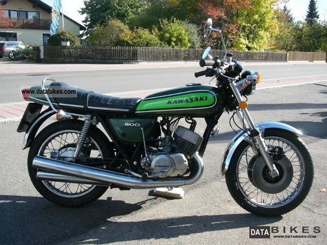 Kawasaki  500 H1 Mach III - original - 1974 Vintage, Classic and Old Bikes photo