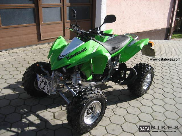 2010 Kawasaki  KFX 450 Zumaschinenzulassung Lime Motorcycle Quad photo