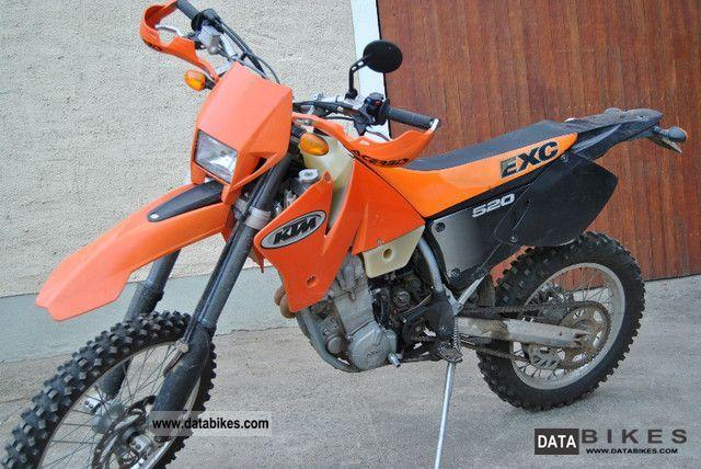 2002 KTM  EXC 520 Motorcycle Enduro/Touring Enduro photo