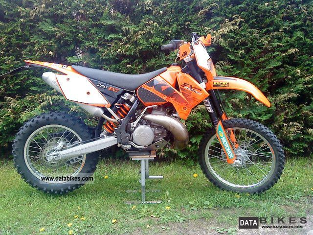 KTM  exc 250 with accessories and real 52.5 Bst. 2006 Enduro/Touring Enduro photo