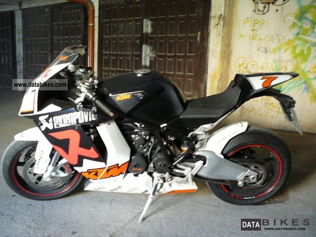 2009 KTM  1190cc RC8 Akrapovic unique - built 2009 Motorcycle Sports/Super Sports Bike photo