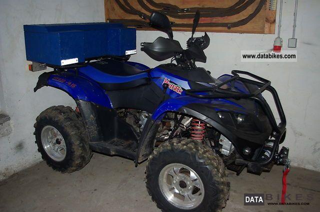 2009 Linhai  ATV Quad 420 4x4 snow plow winds AHK Motorcycle Quad photo