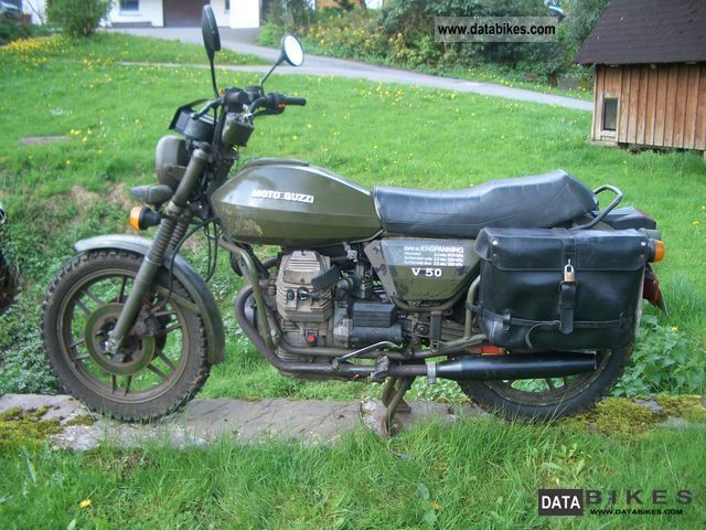 1985 Moto Guzzi  V50 NATO Military Motorcycle Naked Bike photo