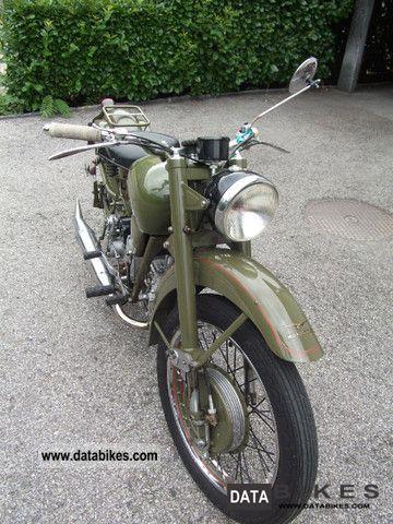 Ex-Military - 1955 Moto Guzzi Airone | Bike-urious
