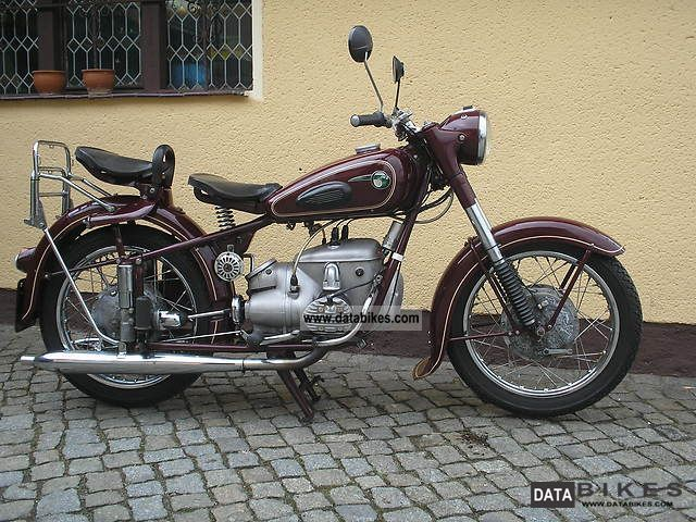 1959 Mz  BK 350 Motorcycle Tourer photo