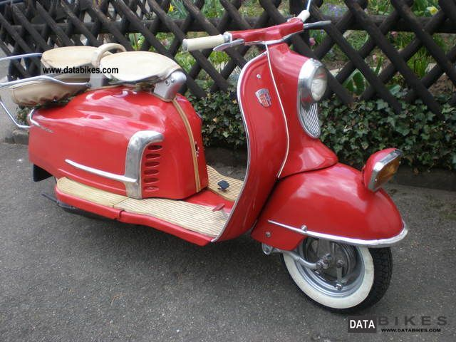 NSU  PRIMA 5 (V) TYPE 28/175 (w.Lambretta) 1958 Vintage, Classic and Old Bikes photo