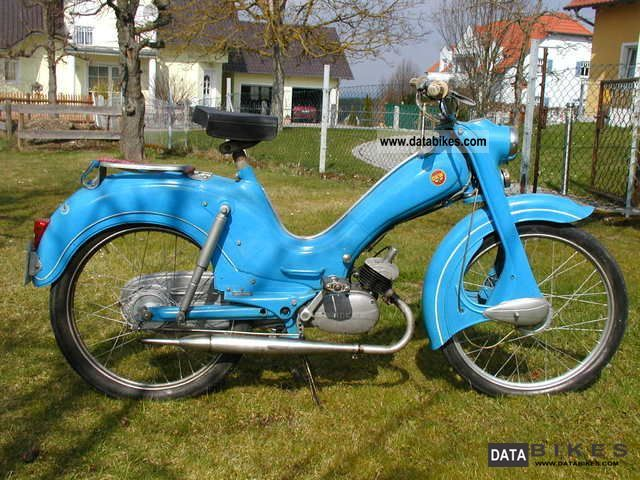 1957 NSU  Bumblebee Motorcycle Motor-assisted Bicycle/Small Moped photo