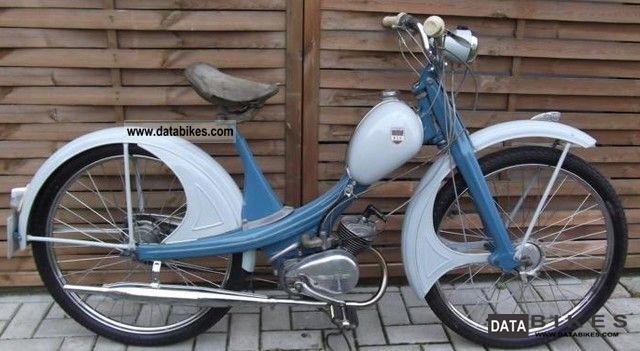 1960 NSU  Qickly S Motorcycle Motor-assisted Bicycle/Small Moped photo