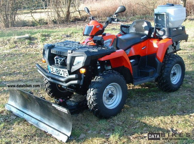 2010 Polaris  Sportsman 500 EFI X2 winter service Motorcycle Quad photo